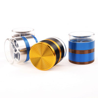 Lighters & Smoking Accessories, 63MM5 layer aluminium alloy thread type transparent cover herb grinder delivery randomly