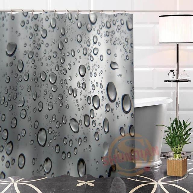 Best Nice Custom Raindrops Shower Curtain Bath Waterproof Fabric For Bathroom More Size Wjy