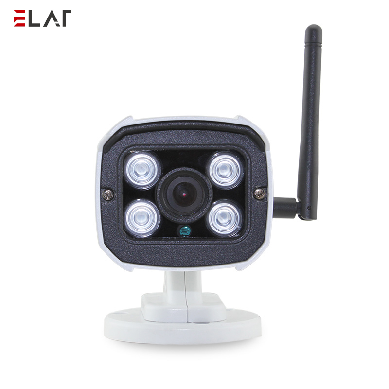 ELAF Wireless HD Camera Built-in Mic IR Night Vision P2P Surveillance IP Bullet Camera Outdoor Waterproof Wifi CCTV Camera