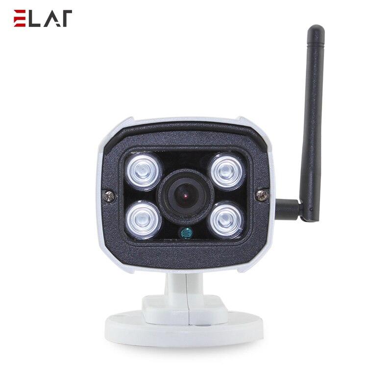 ELAF cámara inalámbrica HD micrófono incorporado de la visión nocturna IR P2P de vigilancia IP bala Cámara impermeable al aire libre Wifi CÁMARA DE CCTV