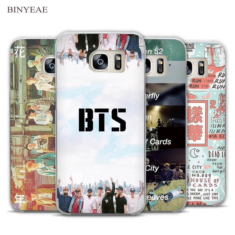 BINYEAE bts bangtan boys Transparent Phone Case Cover for Samsung Galaxy S3 S4 S5 S6 S7 Edge Plus Mini