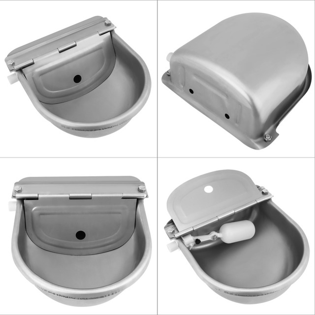 4L Float Valve Water Trough Farm Supplies Livestock Drinking Bowl For Horse Cattle Goat Sheep Pig Dog Zerone Automatic Stock Waterer