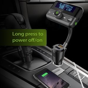 Image 4 - Bt75s 블루투스 fm 송신기 예/아니오 음성 제어 mp3 플레이어와 핸즈프리 통화 차량용 키트 듀얼 usb 빠른 충전 3.0 차량용 충전기