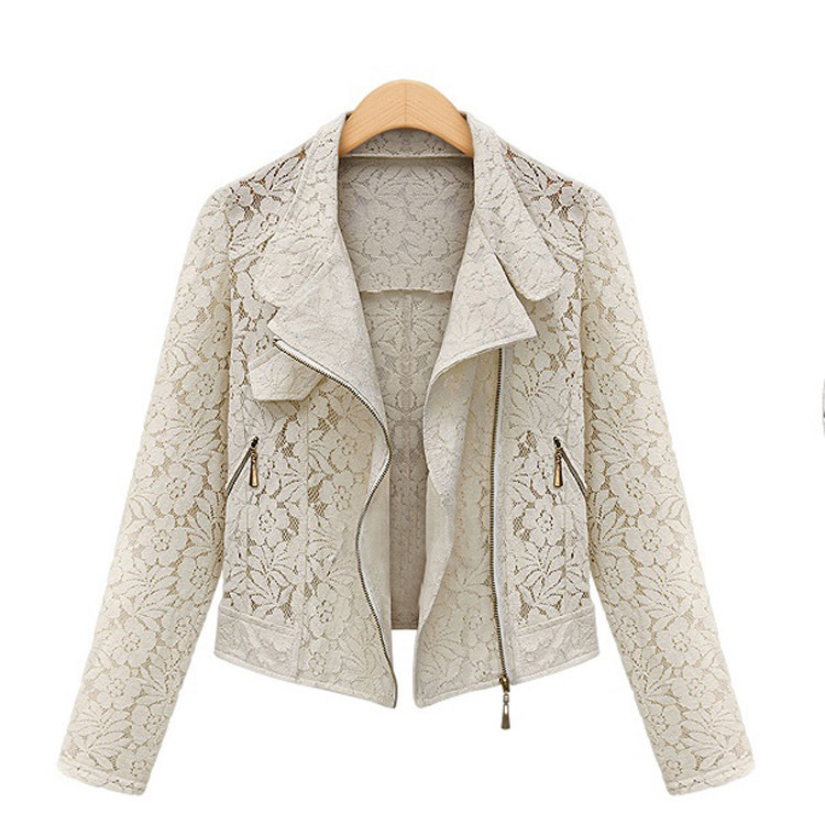 2017 Hitz European American women s Lace patchwork shawl thin wild cardigan hollow out short design