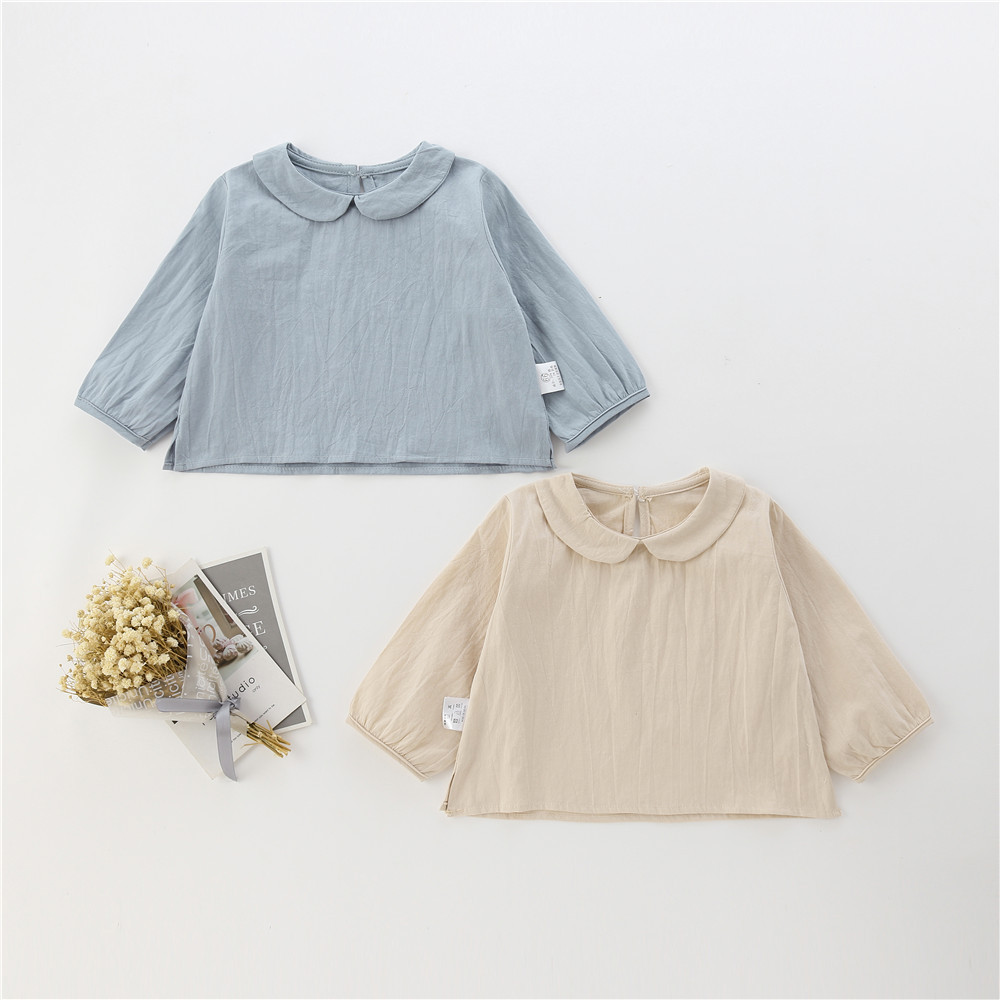 Children's Collar Shirt Spring And Autumn Style Long Sleeve Cotton Baby Jacket Baby Lapel Children's Shirt Baby Blouse