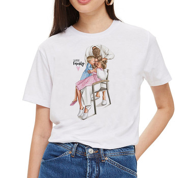 SexeMara Super Mom T shirt Women Mother's Love Print White T-shirt Harajuku Mama TShirt Vogue Tops tee shirt Femme Vogue Summer 1