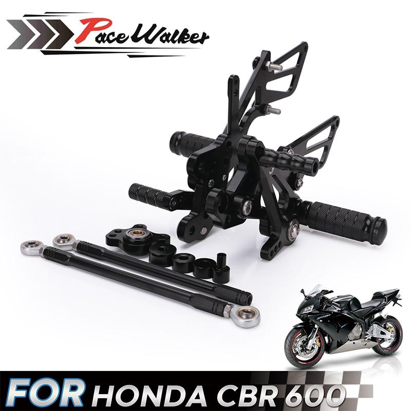 For HONDA CBR 600 CBR600 RR CBR600RR 2007 2008 CNC Aluminum Adjustable Motorcycle Rearsets Rear Set Foot Pegs Pedal Footrest