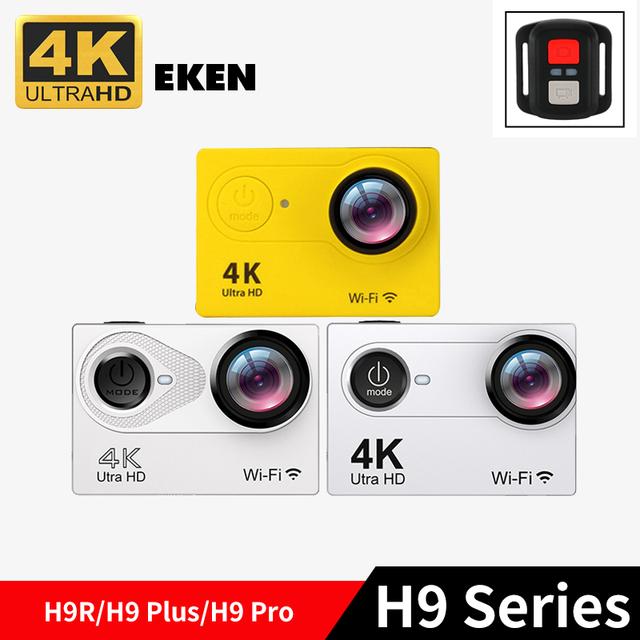 EK EN série H9R & H9PRO & H9 H9 Original mais 4 K/30fps 1080 P HD Ação wi-fi Câmera Dupla Tela Esporte Cam com 2.4G remoto controle
