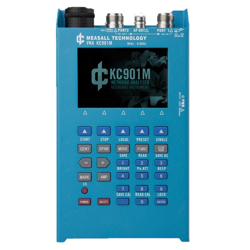 KC901M 9.8 GHz Analisador de Rede RF Handheld multímetro medição única porta do vetor e 2-portas simples vector network analisar