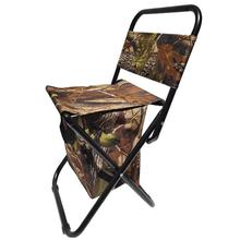 Folding Chair Seat Iscas-Tackle Backrest Stool Camping Picnic Leisure Outdoor with Storage-Bag