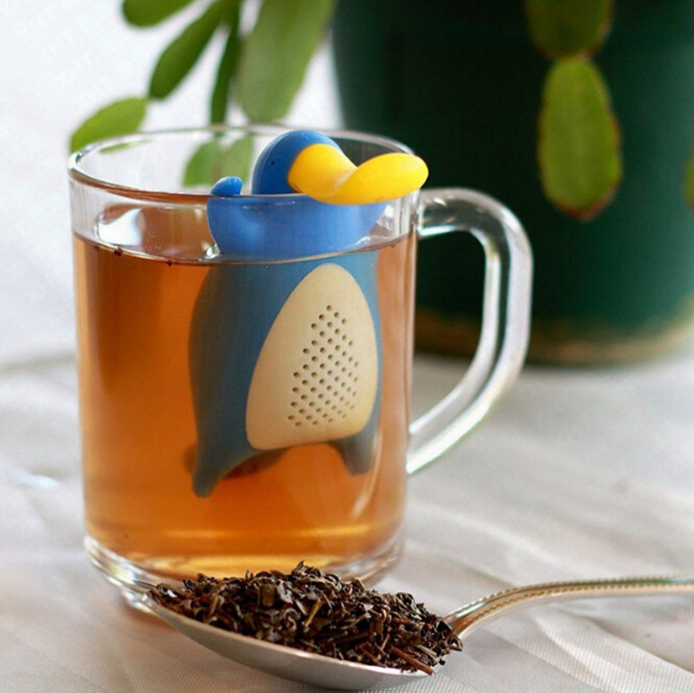 Chinese flower tea - Creative Tea Infuser Loose Leaf Tea Or Flower Tea Cute Platypus Tea Strainer Duckbill Silicone