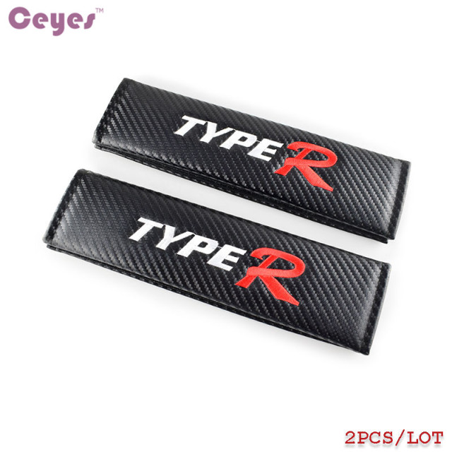 Ceyes car styling car emblems stickers case for typer logo type r honda civic cr