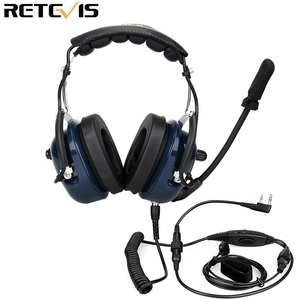 Image 2 - EH050K רעש הפחתת תעופה מיקרופון אוזניות VOX נפח התאמת רמקול עם אצבע PTT לkenwood Baofeng UV 5R Retevis H777