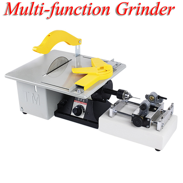 Multi-function Table Grinder Jade Carving Beads Polishing Beeswax Cutting Small Bead Punching Machine QLD-1
