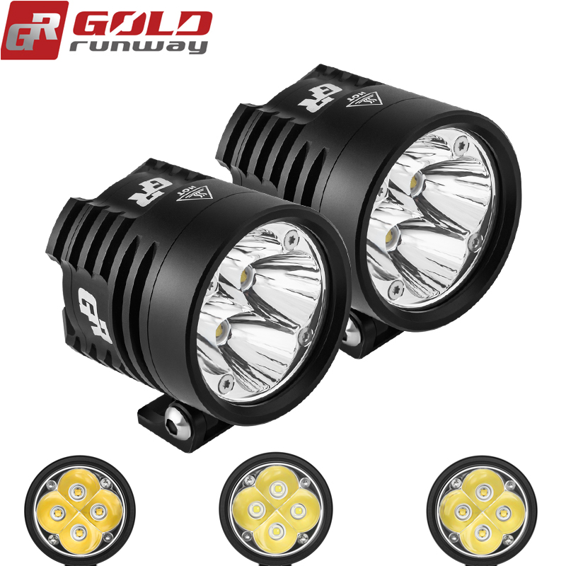 цена на GOLDRUNWAY GR EXP4 Universal LED Light Kit Motorcycle bicycle Headlight fog lights lamp Auxiliary driving 6000K