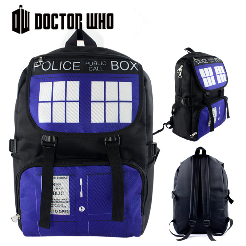 High Quality Doctor Who TARDIS Police Box Waterproof Printing Military Backpack for Teenage Girls School Bags for Teenagers high quality doctor dr who tardis police box backpack bag call box pu leather with tag female man shoulder bag