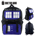 High Quality Doctor Who TARDIS Police Box Waterproof Printing Military Backpack for Teenage Girls School Bags for Teenagers