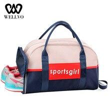 купить Letter Luggage Bags Women Waterproof Foldable Fitness Training Shoulder Bag For Shoes Big Tourist Travel Duffle Handbag XA639WB по цене 1319.3 рублей