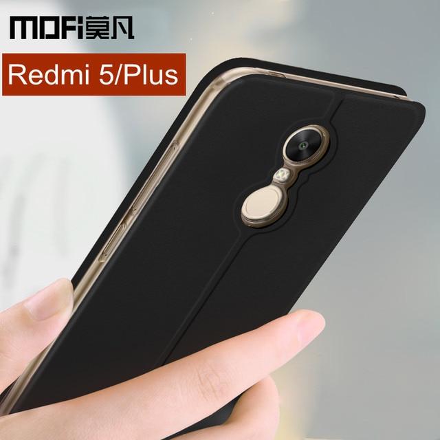 best service 168d5 bcefe US $8.99 10% OFF|Xiaomi Redmi 5 Plus case cover Redmi 5 case flip cover  leather silicone full protect shockpoof coque MOFi Redmi5 Plus case-in Flip  ...