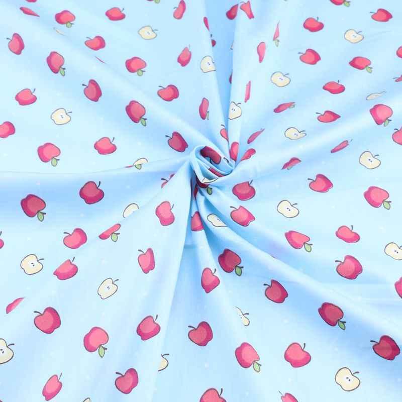 160 см * 50 см обувь из хлопка, с мультяшками зеленые фрукты ткань младенческой Детские комплект кровати «сделай сам» одежда платье лоскутное дети тряпка для домашней работы