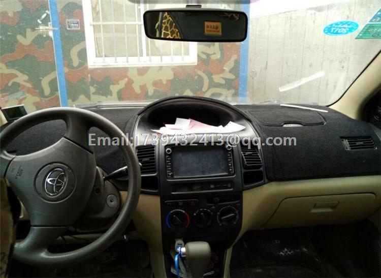 Dashmats car-styling accessories dashboard cover for toyota Yaris Vitz echo 2014 2015 2008 2013 2007 2012 2011 2006 2000 2010 цена