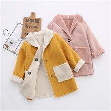 Nova primavera outono do bebê meninos meninas casaco crianças jaqueta de lã para crianças longo outerwear meninas roupas de inverno moda