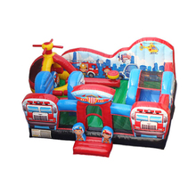 kids inflatable trampoline bouncer house,inflatable jumping bed kids fun city YLW-TC47
