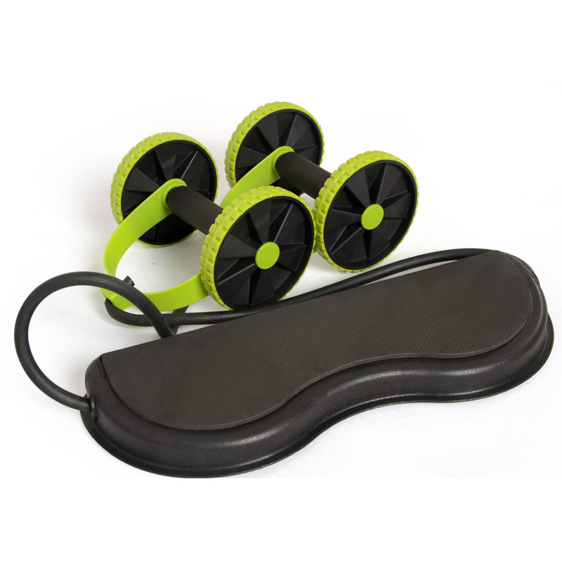 AB Wheels Roller Stretch Elastic Abdominal Resistance Pull Rope Tool AB roller for Abdominal muscle trainer exercise 15