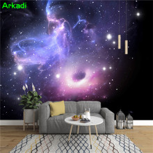 Custom 3D Space Galaxy Star Galaxy Ceiling Mural Simple Star KTV Living  Room Bedroom TV Background