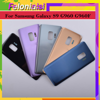 battery samsung galaxy 10pcs/ For Samsung Galaxy S9 G960 G960F SM-G960F Housing Battery Cover Back Case Rear Door Chassis S9 Housing Shell Replacement (1)