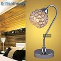LED Table Light Crystal Desk Lamp Bedroom Reading Lamp E14 Chrome Simple Modern Decorative Creative Lamp