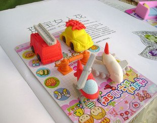 free shipping Wholesale 10set/lot  Aircraft Rubber / Rubber Toys / Simulation rubber / rubber molding erase
