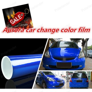 Hot sale Pearl Gloss Chameleon Vinyl Film With Air Bubble Free Car Aurora Wrap Sticker Size:152*20cm/Roll