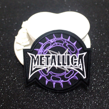 Pulaqi Metal Band Patch Letter Cloth Patches Embroidered For Clothing Applique Music Rock Bands Badges Iron on F