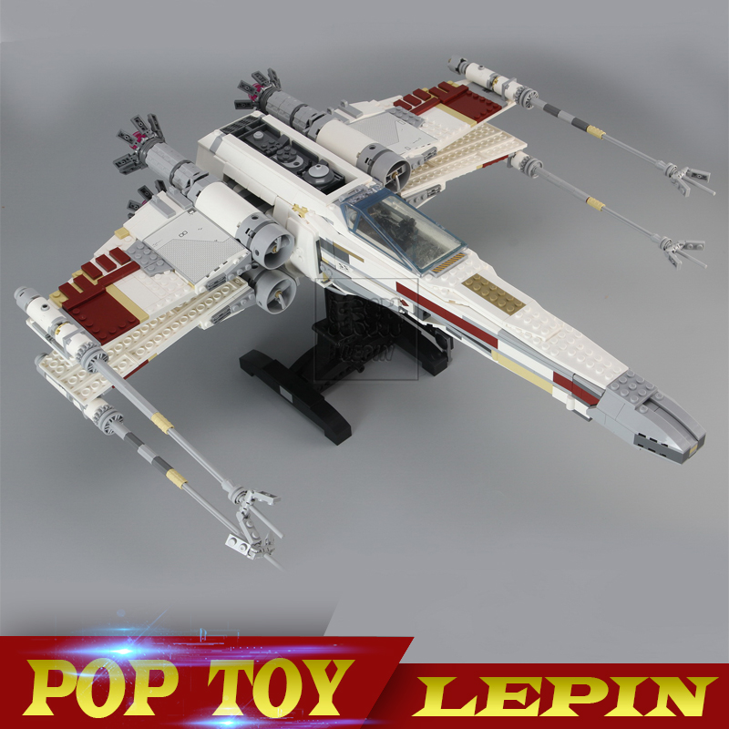LEPIN 05039 Star Cool Model Wars 1586pcs Red Five X Starfighter wing Building Blocks Bricks toy lepin 05039 star wars red five x wing starfighter figure blocks construction building bricks toys for children compatible legoe