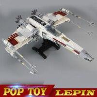 LEPIN 05039 Star Cool Model Wars 1586pcs Red Five X Starfighter Wing Building Blocks Bricks