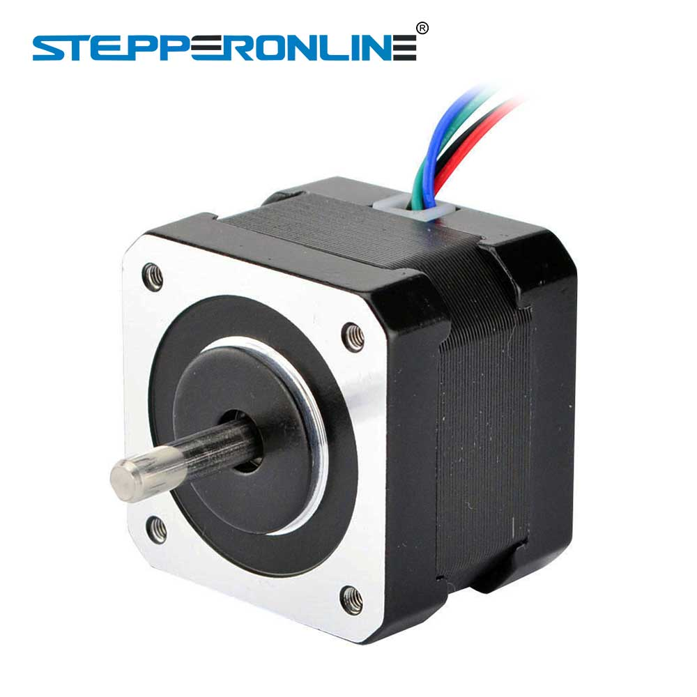 цена на Dual Shaft Nema 17 Stepper Motor 34mm 26Ncm(36.8oz.in) 42 Motor 4-lead 0.4A Nema17 Stepper 12V DIY CNC 3D Printer