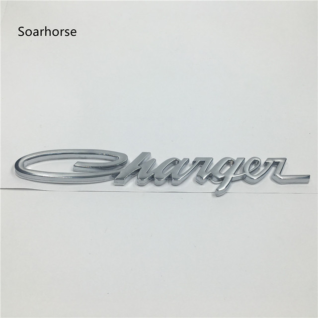 soarhorse for dodge charger emblems chrome classic script