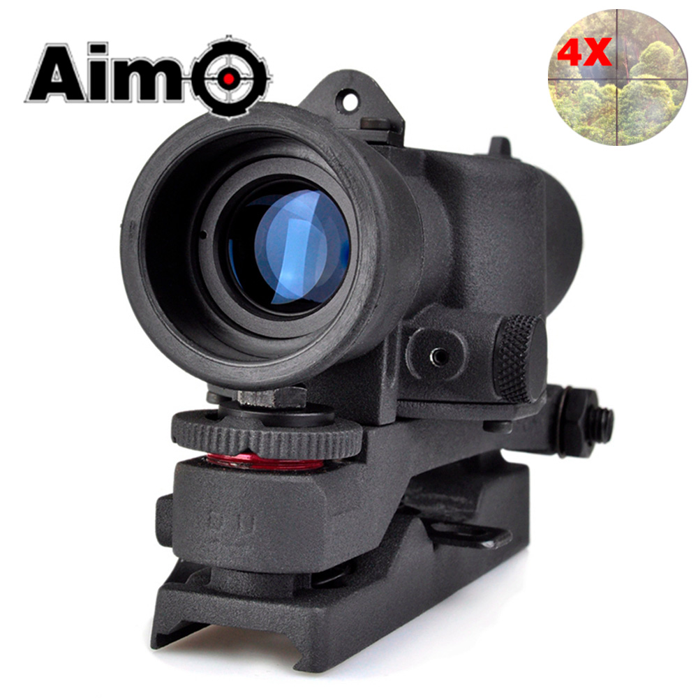 AIM-O Tactical Riflescope SUSAT 4X Scope For L85 Series Scopes Softair Pistol Colimador Airsoft Telescope AO3038 Hunting Optics