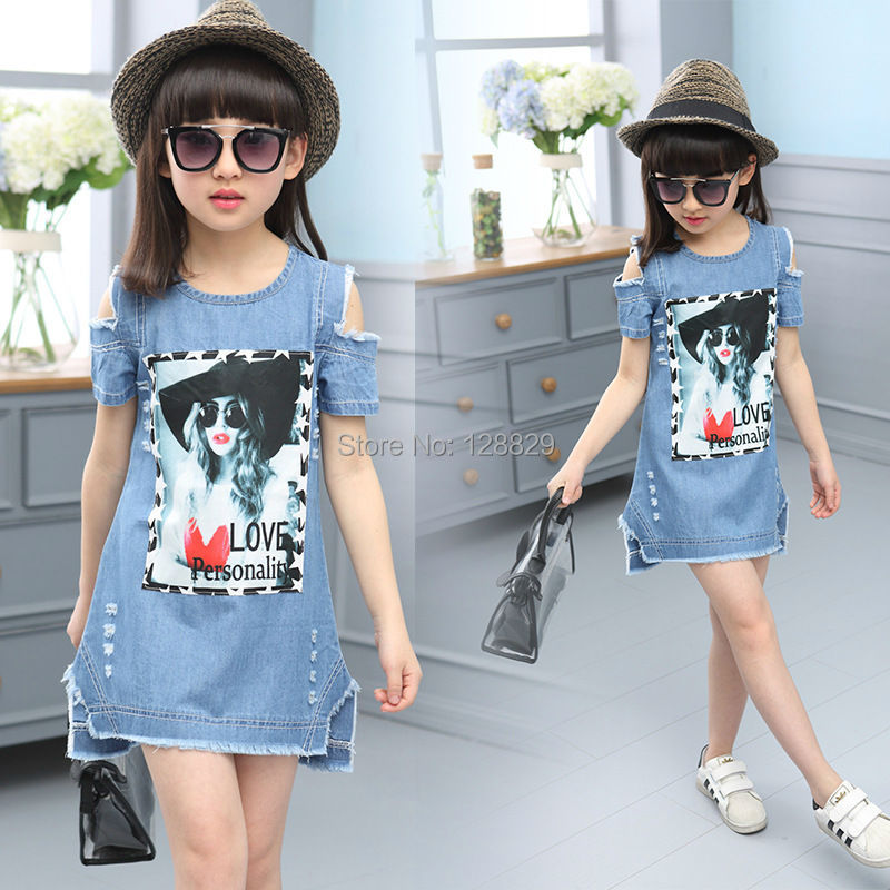 Denim Dresses For Girls (6)