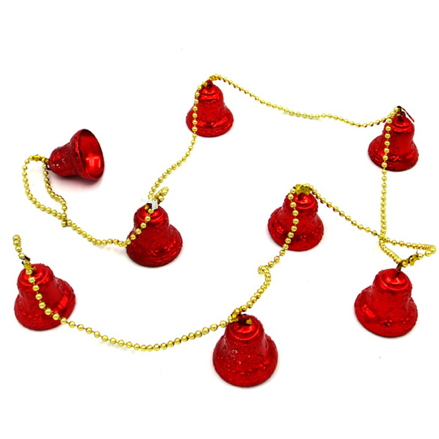 8 campanas cadena Campanas de Navidad Adornos cadena campana Navidad ...
