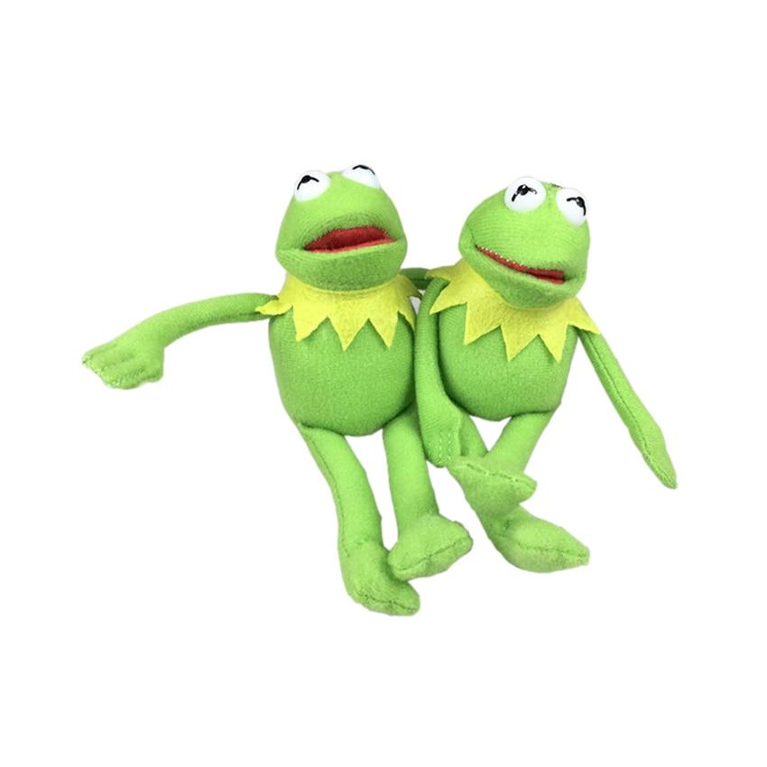 16cm Kermit Plush Keychains Sesame Street Doll Stuffed Animal Kermit Pendant Plush Frog Doll