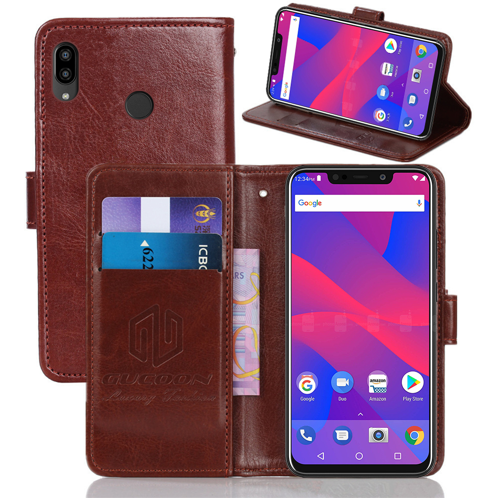 GUCOON Classic Wallet Case for BLU Vivo Go XL4 Cover PU Leather Flip Case for BlackBerry Evolve Fashion Phone Bag Shield image