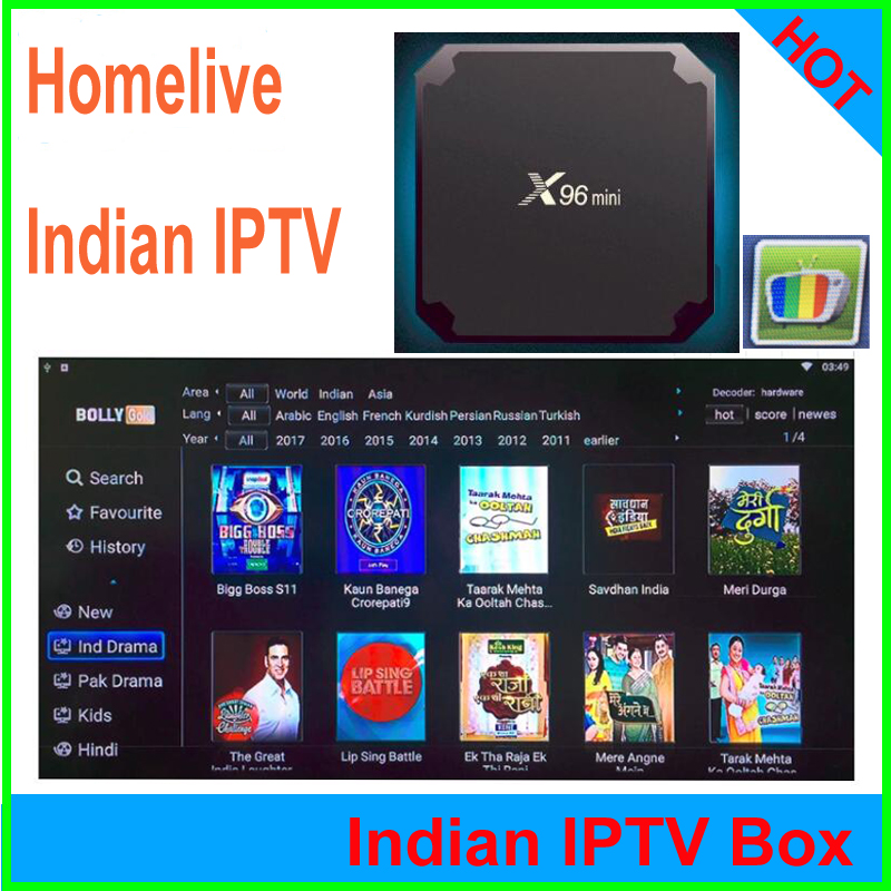 Tx3 mini h96 x96 smart tv box homelive Indian iptv subscription 4k hd india iptv with