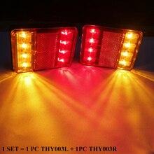 1 ชุด AOHEWEI 8 ไฟ LED รถพ่วงไฟท้ายตำแหน่ง led โคมไฟสำหรับพ่วง 12 V led รถบรรทุกเบรคตัวบ่งชี้