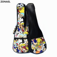 ZONAEL 21 23 24 26 Inch Ukulele Waterproof Bag Use Oxford Cloth With Handle Guitar Parts