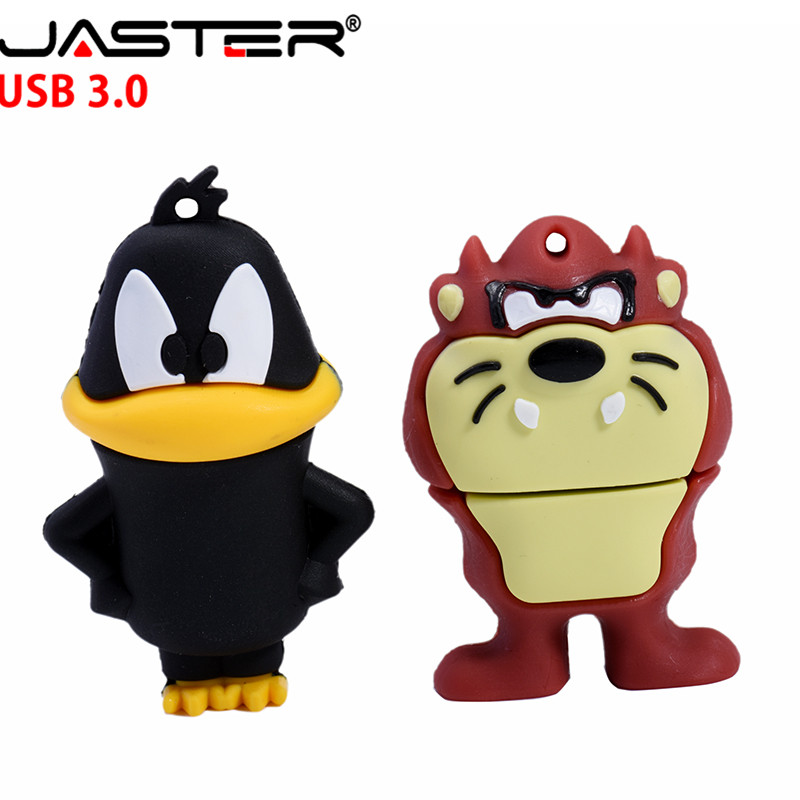JASTER USB 3.0 Looney Tunes Usb Flash Drive 32GB Pendrive 16GB 64GB 4GB Bugs Bunny Daffy Duck Cartoon Hot Sale Animal Pen Drive