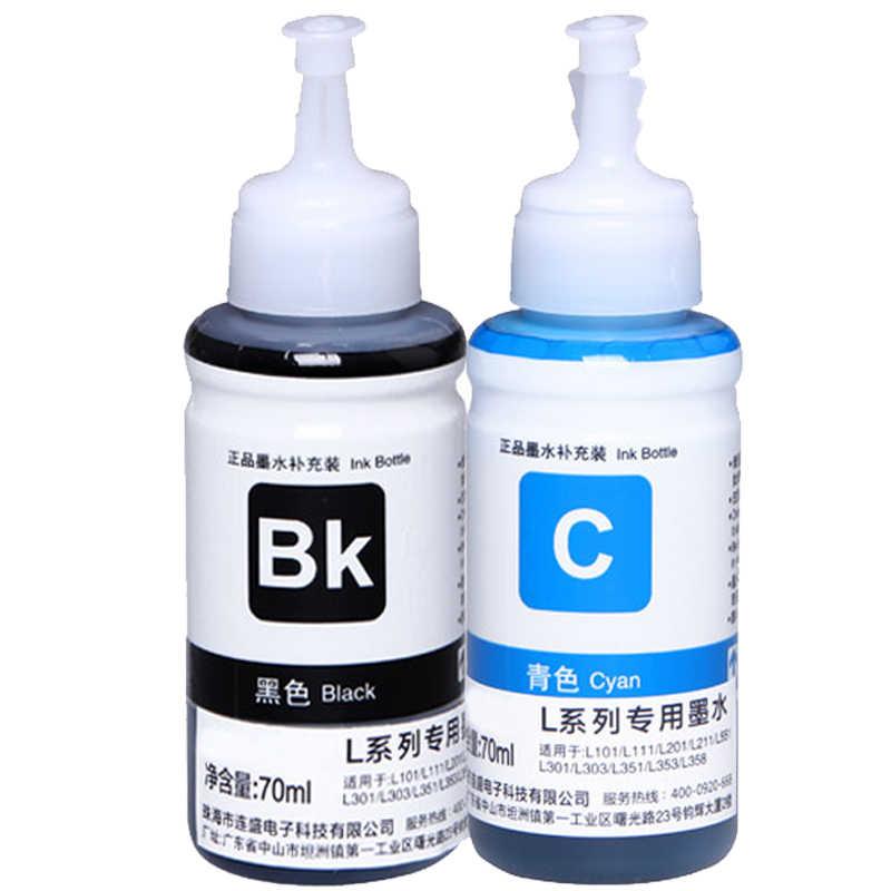 6X Berbasis Pewarna Non OEM Refill Tinta Kit untuk Epson L100 L110 L120 L132 L210 L222 L300 L350 L355 L312 L362 L366 L550 L555 L566 printer
