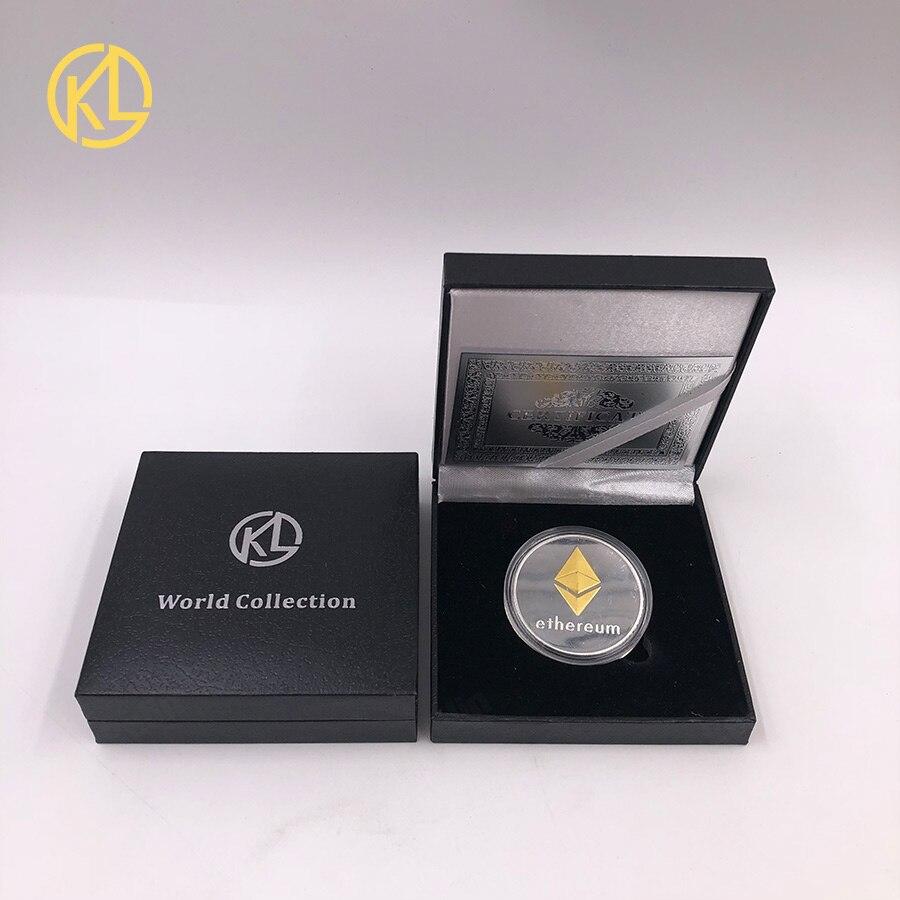 Эфириум для криптовалюты эфириум эфир/Биткоин/тире, американская памятная монета, коллекция невалютных монет на удачу с красивой подарочной коробкой