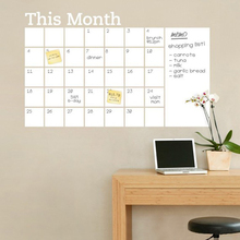 Month whiteboard planner stickers home decor adhesive vinyl kids room wall decals removable schedule wall stikers living room цена в Москве и Питере
